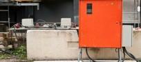 Stromversorgung auf einer Baustelle