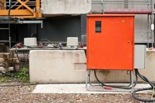 Stromversorgung auf einer Baustelle - Baustrom